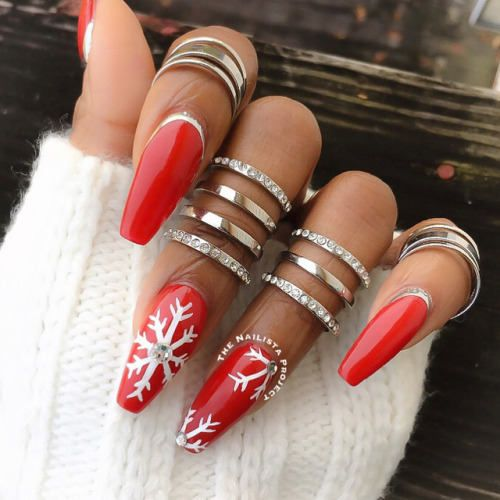 Christmas Nails Designs Coffin: 38 Amazing Christmas Nail Ideas For 2018