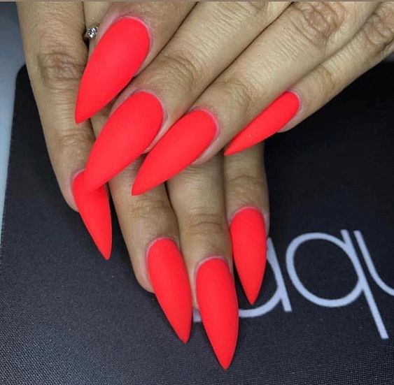 30 Eye-catching Red Nail Art Designs to Show Your Style - Page 2 of