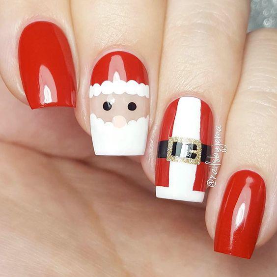38 Amazing Christmas nail ideas for 2018; Christmas short nails; Christmas coffin nails; Christmas acrylic nails; Christmas almond nails.