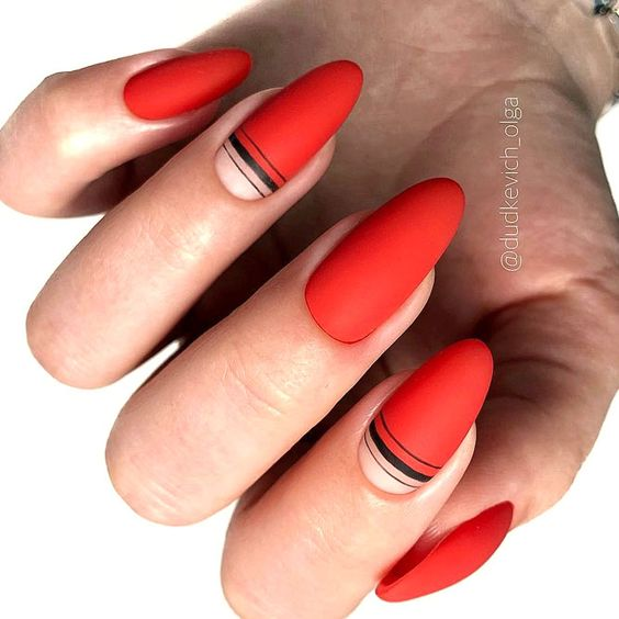 30 Eye-catching Red Nail Art Designs to Show Your Style - Page 6 of
