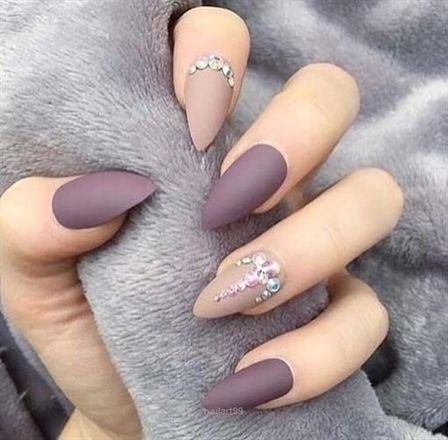 30+ Charming Matte Nail Designs To Try This Fall , Page 26