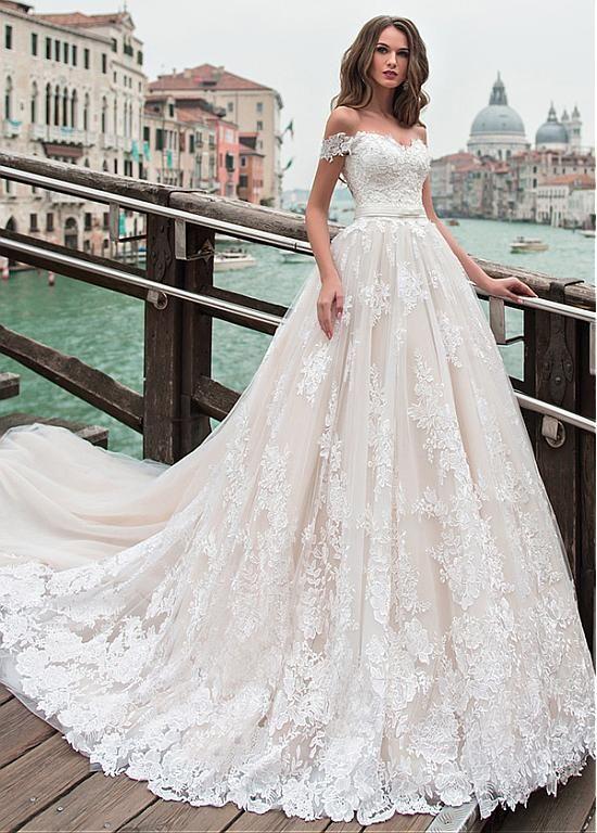 25 Romantic Off-the-shoulder Wedding Dresses for You Inspiration