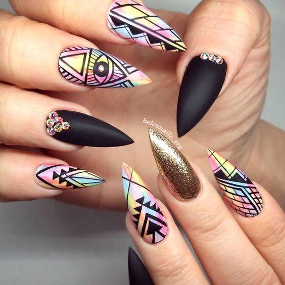 70+ Trendy and Unique Stiletto Nail Art Designs; Stiletto Nail Designs; Bling Stiletto Nail; Ombre Stiletto Nail; Simple Stiletto Nail; Acrylic Coffin Stiletto Nail.