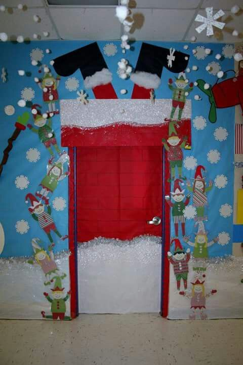 41 Cute Christmas Door Decoration Ideas for Your Holiday Inspiration; Nutcracker door decoration; Santa Door;Christmas office door decoration;Elf Christmas door decorating contest!