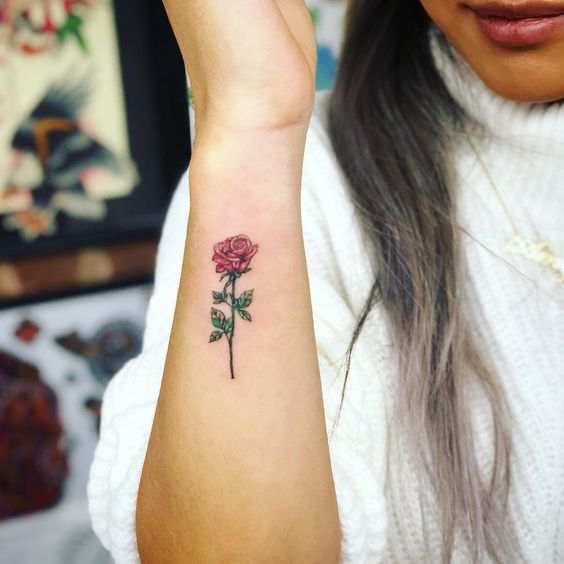 55 Awesome Tiny Rose Tattoos for Women , SeShell Blog