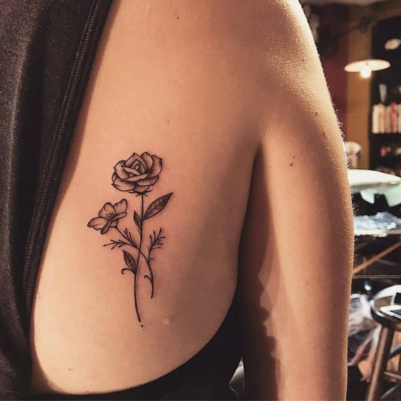 55 Awesome Tiny Rose Tattoos for Women