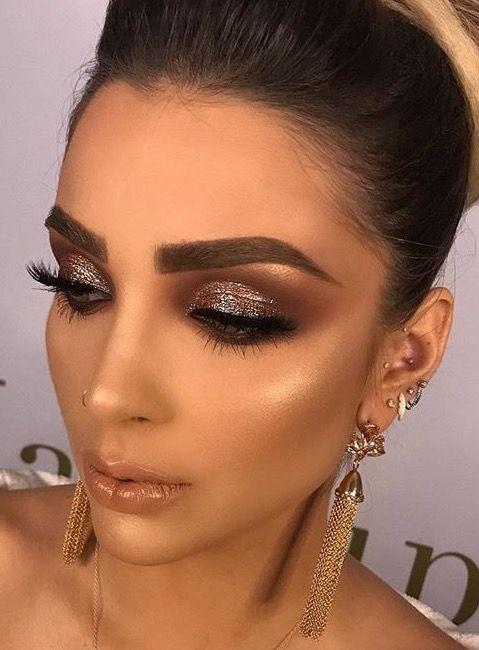 Holiday makeup looks; promo makeup looks; wedding makeup looks; makeup looks for brown eyes; glam makeup looks.
