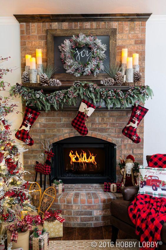 60 Cozy Rustic Christmas Mantel Decor Ideas Page 36 Of 60 Seshell Blog