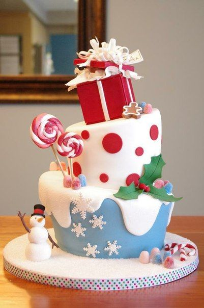 62 Awesome Christmas Cake Decorating Ideas and Designs