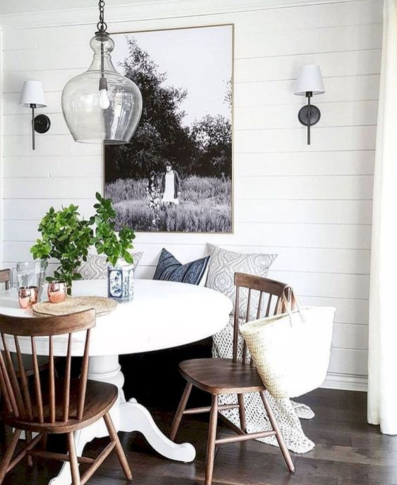 kitchen dining room; dining room decor; small dining room inspiration; farmhouse dining room decor; rustic dining room decor.