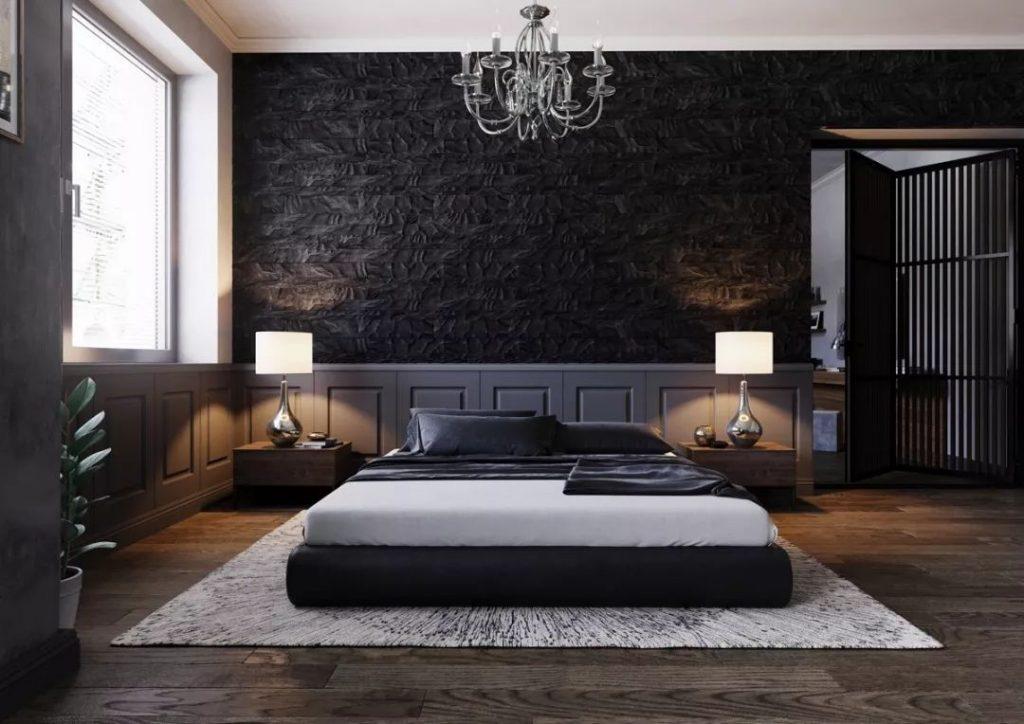 40+ Elegant Black Bedroom #bedroom #blackbedroom