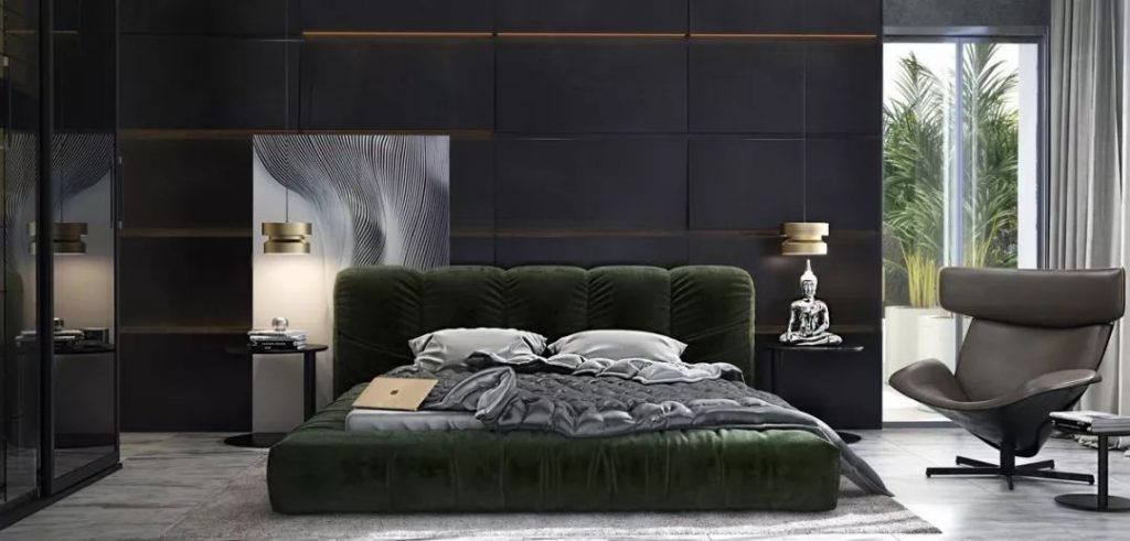 40+ Elegant Black Bedroom #bedroom #blackbedroom