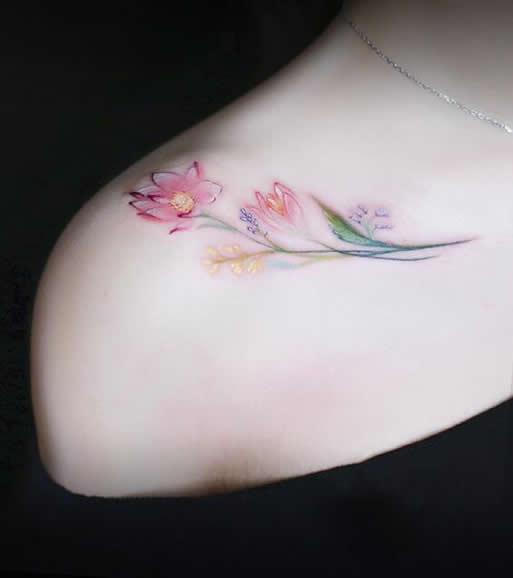 Beautiful girl clavicle tattoo #tattoo #girltattoo #clavicletattoo