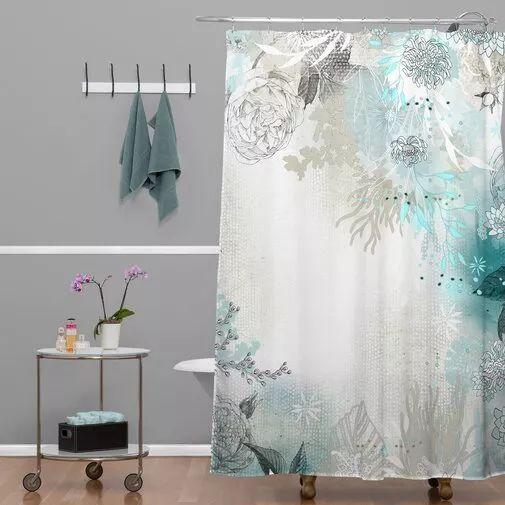 How to hang the bathroom shower curtain #showercurtain #bathroom