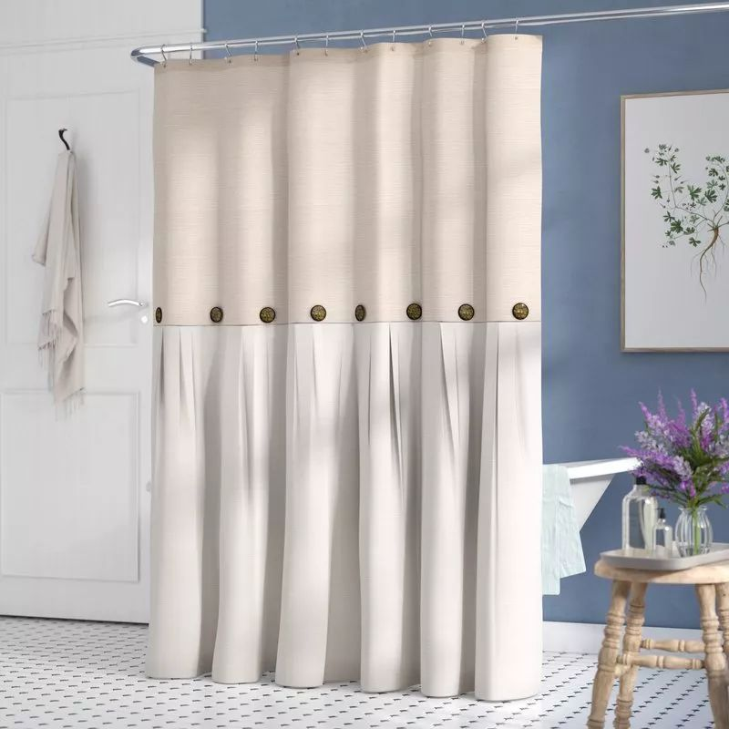 How to hang the bathroom shower curtain #showercurtain #bathroom
